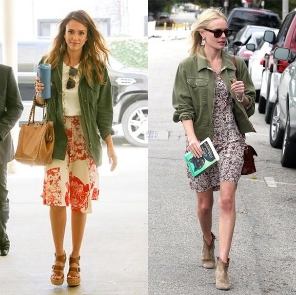 Jessica Alba e Kate Bosworth adoram o novo militar (Foto: Reprodução/Instagram)