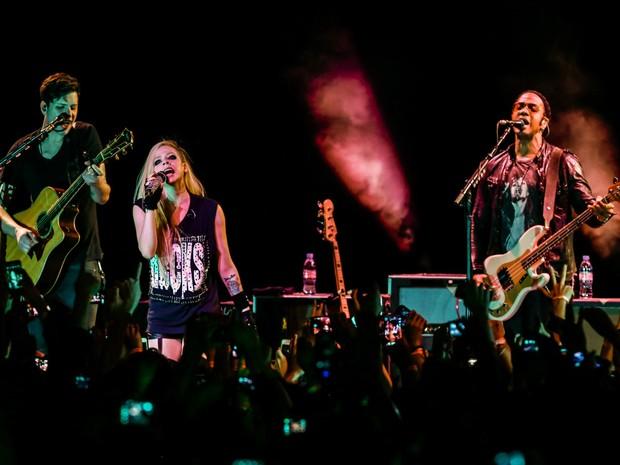 Avril Lavigne se apresenta em São Paulo (Foto: Manuela Scarpa / Foto Rio News)