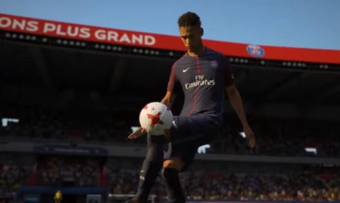 Neymar aparece com camisa do PSG em novo trailer do Fifa 18 (Foto   Reprodução 72d16e01279ce