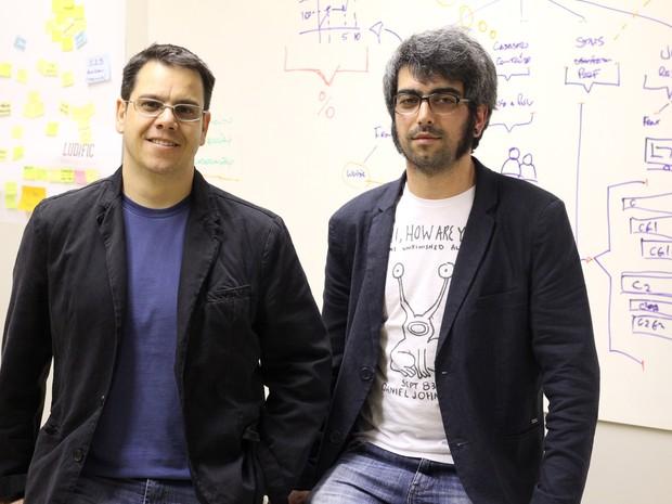 Dupla ganhou  apoio da Microsoft para desenvolvimento de empresa no RS (Foto: Arquivo Pessoal)