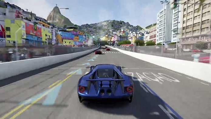 Forza 6 apresenta favela no meio de Copacabana (Foto: Reprodução/Murilo Molina) (Foto: Forza 6 apresenta favela no meio de Copacabana (Foto: Reprodução/Murilo Molina))