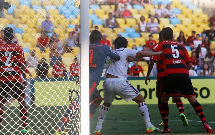 Fred gol, Fluminense x Flamengo (Foto: Reginaldo Pimenta/Agência O Globo)