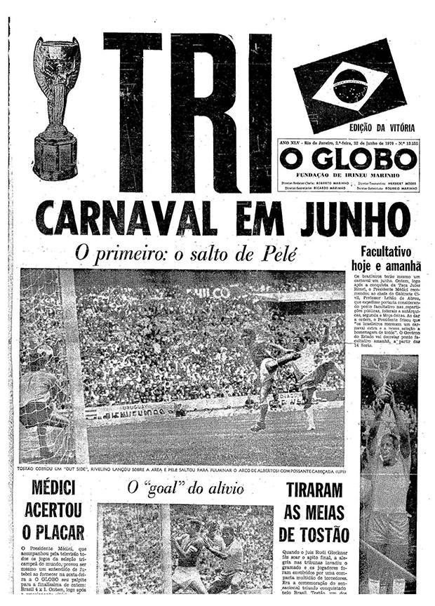 Brasil Copa de 70 (Foto: Arquivo O Globo)