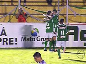Luverdense atropela Vila Aurora e se torna 1º finalista do estadual (Foto: Reprodução/TVCA)