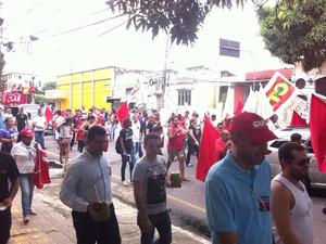 Manifestação em Belém (Foto: Dominik Giusti/G1)