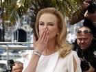 Nicole Kidman manda beijo em lançamento de filme em Cannes