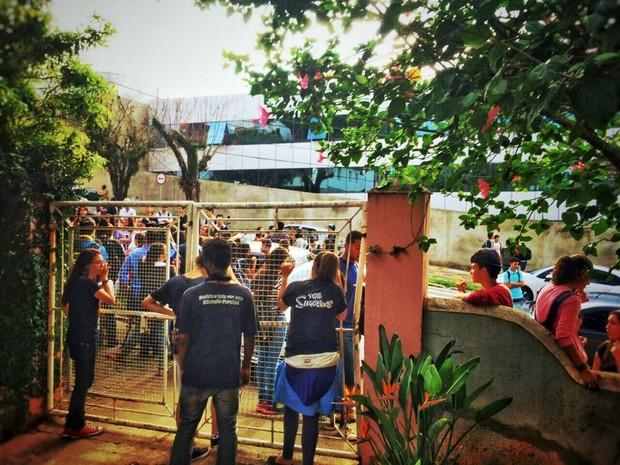 Estudantes ocuparam a Escola Estadual David Campista, em Poços de Caldas, MG (Foto: Grêmio Estudantil Carolina Maria de Jesus)