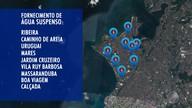 Vazamento no bairro de Jardim Cruzeiro provoca falta d'agua em 11 bairros da Cidade Baixa