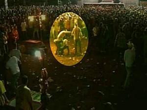Jovem é morto durante show sertanejo na Pecuária de Goiânia (Foto: Reprodução/TV Anhanguera)