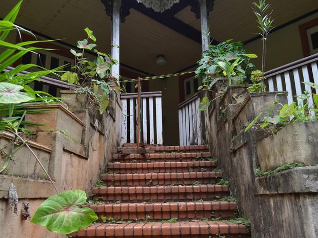 Parte externa do Museu Histórico de Ribeirão Preto (Foto: Rodolfo Tiengo/G1)