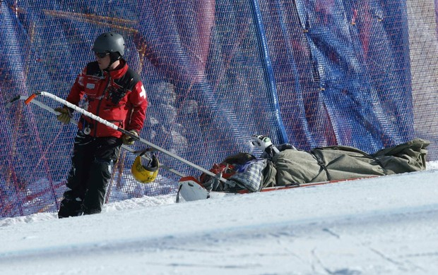 esqui Max Franz acidente em Beaver Creek (Foto: Reuters)