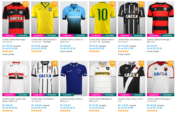 aac415dcb4815 Site diminui o preço da camisa da seleção brasileira de R  229