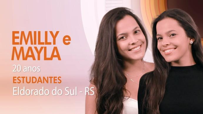 Emilly e Mayla são as gêmeas do BBB17 (Foto: TV Globo)
