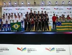 Cearenses ficaram com a prata, enquanto a equipe de Goiás levou o bronze (Foto: Divulgação)