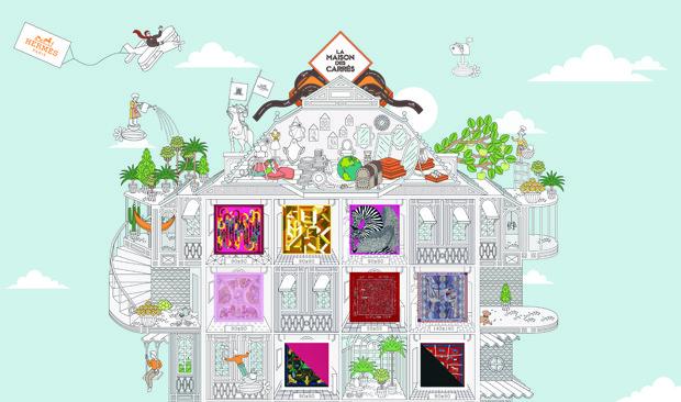 717169335fe Hermès coloca seus famosos carrés no mundo digital com o site La ...