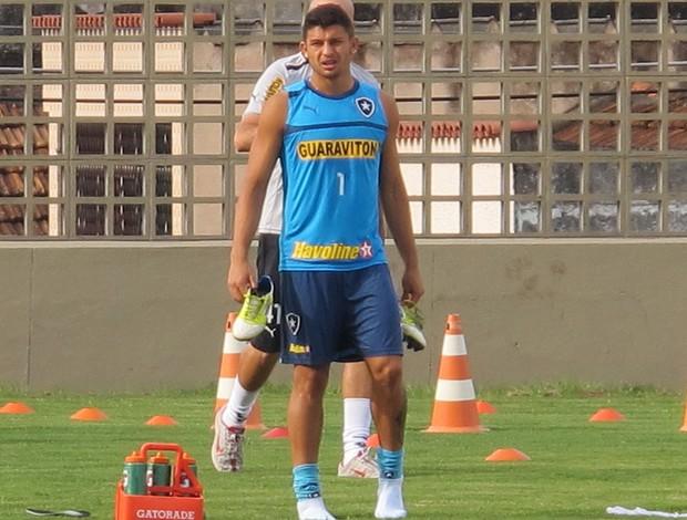 Treino do Botafogo, Elkeson (Foto: Thales Soares / Globoesporte.com)