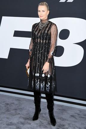 Charlize Theron em première de filme em Nova York, nos Estados Unidos (Foto: Angela Weiss/ AFP)