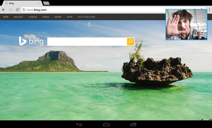 Skype paa tablets Android permite chamadas por vídeo enquanto outros apps são usados (Foto: Divulgação/Skype) (Foto: Skype paa tablets Android permite chamadas por vídeo enquanto outros apps são usados (Foto: Divulgação/Skype))