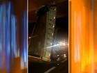 Caçamba de caminhão fica presa em viaduto no contorno rodoviário de Jaú