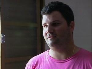 Fernando Montanholi registrou em vídeo o temporal (Foto: Reprodução/TV Fronteira)