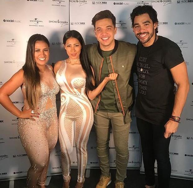 Simone, Simaria, Wesley Safadão e Gabriel Diniz (Foto: Reprodução/Instagram)