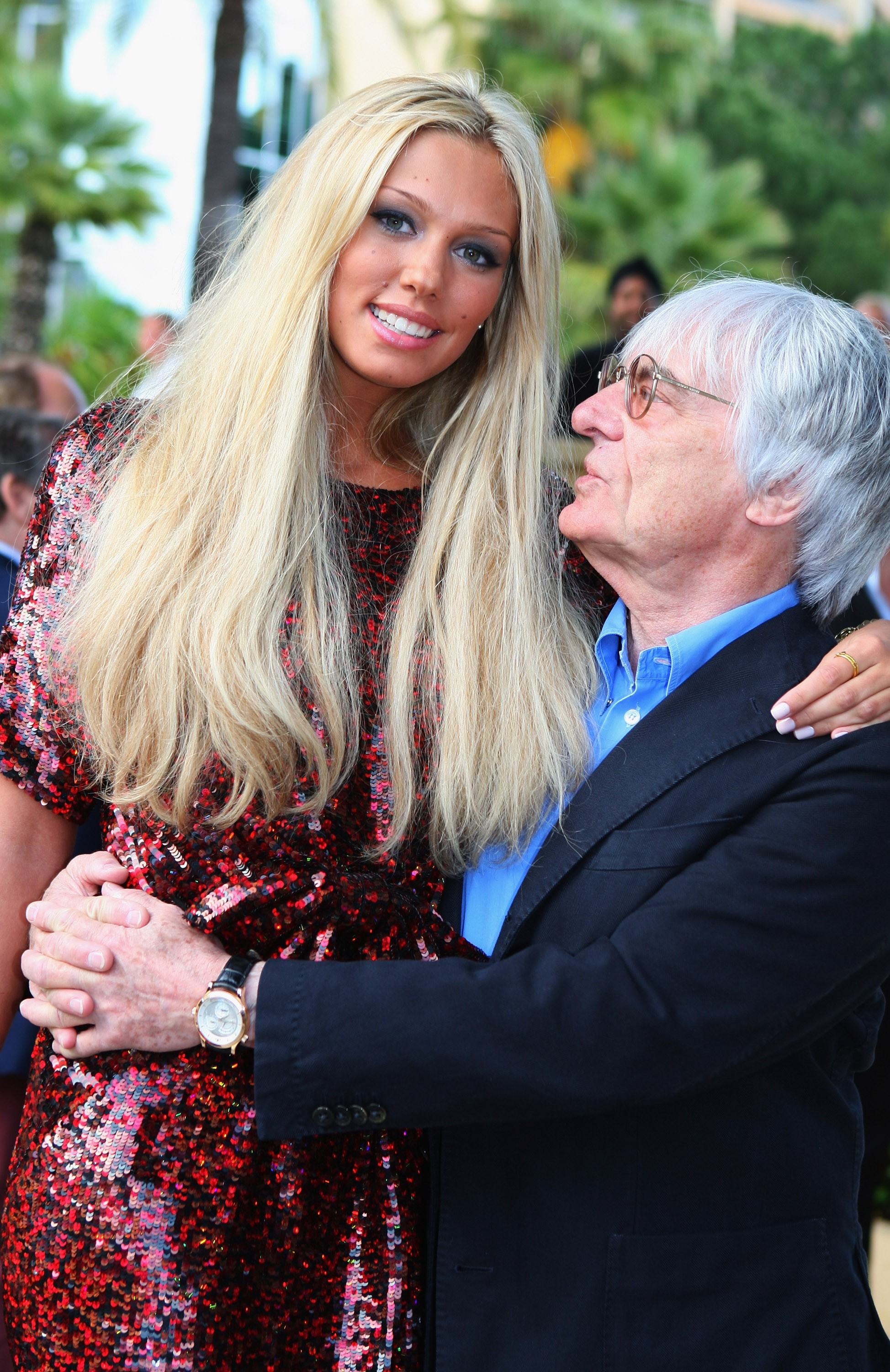 Bernie Ecclestone com a filha Petra (Foto: Getty Images/ Mark Thompson)