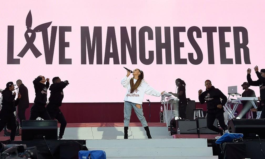 Ariana Grande no One Love Manchester (Foto: Kevin Mazur/Divulgação)