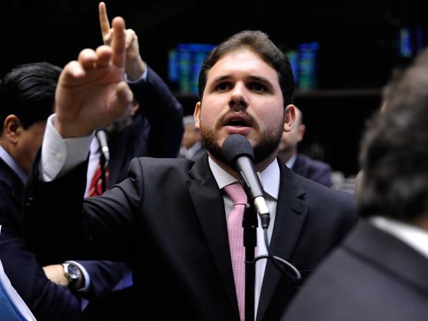 Deputado Hugo Motta (PMDB-PB) durante sessão no plenário da Câmara (Foto: Alex Ferreira/ Câmara dos Deputados)