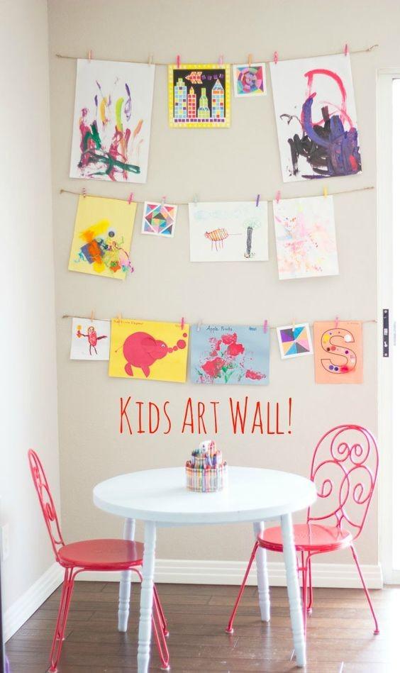 Ideias para exibir as artes das crianças (Foto:  Pinterest)