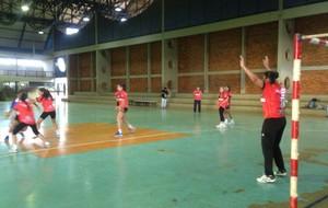 Treinamento de atletas de handebol do Tocantins. (Foto: Camila Rodrigues/Globoesporte.com)