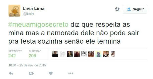 #meuamigosecreto 3 (Foto: Reprodução/Twitter)