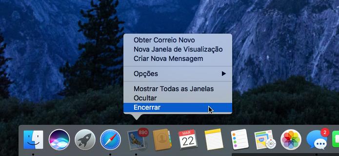 Encerrando um aplicativo na dock do macOS (Foto: Reprodução/Edivaldo Brito)