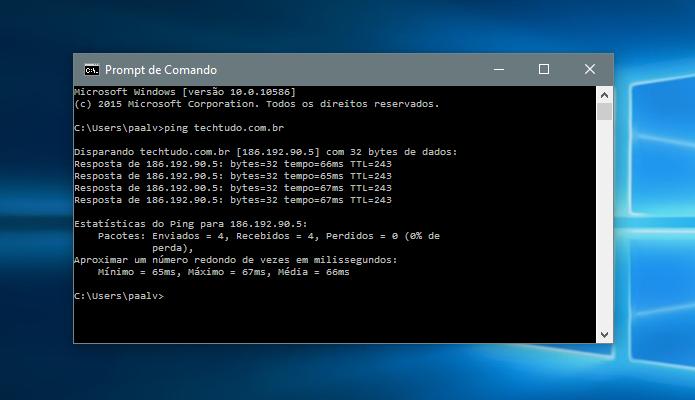 Encontre o IP de um site no Windows (Foto: Reprodução/Paulo Alves)