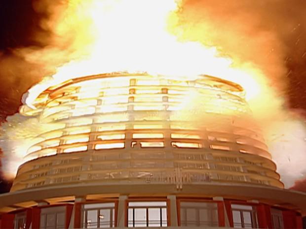 Explosão Shopping Torre de Babel