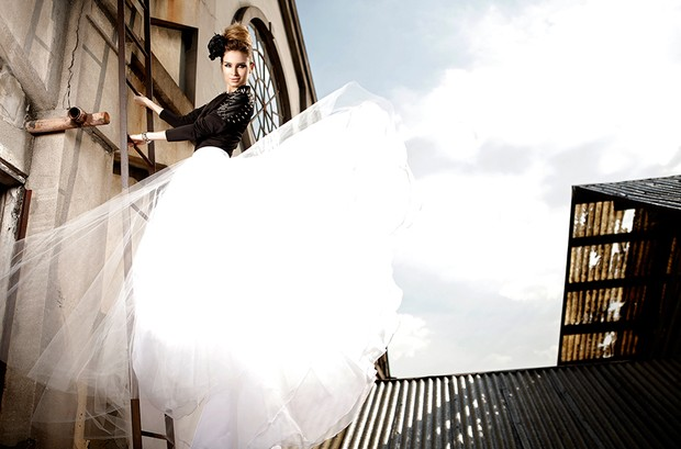 Raquel Bertani posa de noiva para o EGO (Foto: Marcos Serra Lima / EGO)