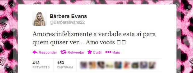 Bárbara Evans (Foto: Twitter / Reprodução)