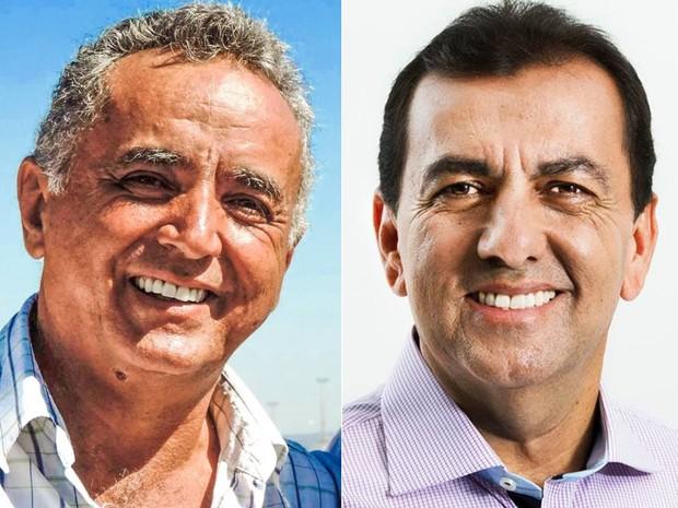 Divino Lemes (PSD) e Zélio Cândido (PSB), candidatos em Senador Canedo, Goiás (Foto: Reprodução/Facebook)