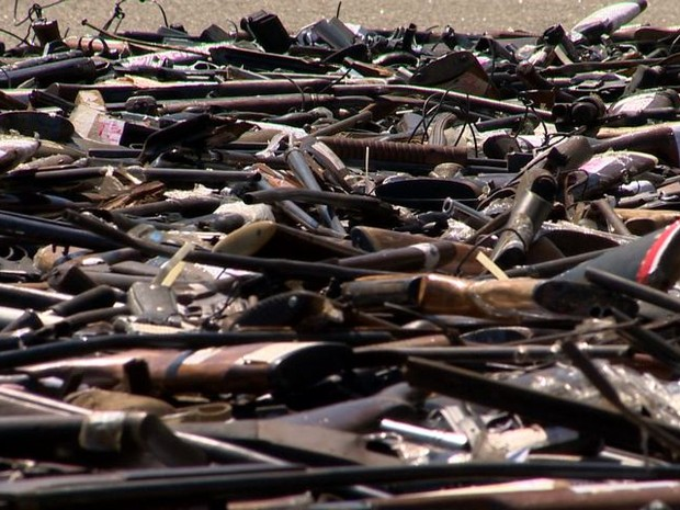 Mais de 4700 armas já foram apreendidas (Foto: Reprodução/ TV Gazeta)