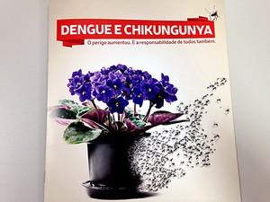 Reprodução de material de campanha de prevenção ao Aedes aegypti (Foto: Natalia Godoy/G1)