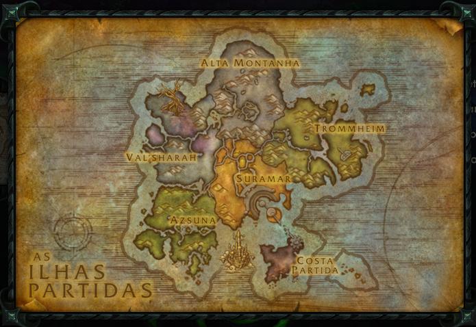 Mapa das Ilhas Partidas em World of Warcraft Legion (Foto: Divulgação/Blizzard)