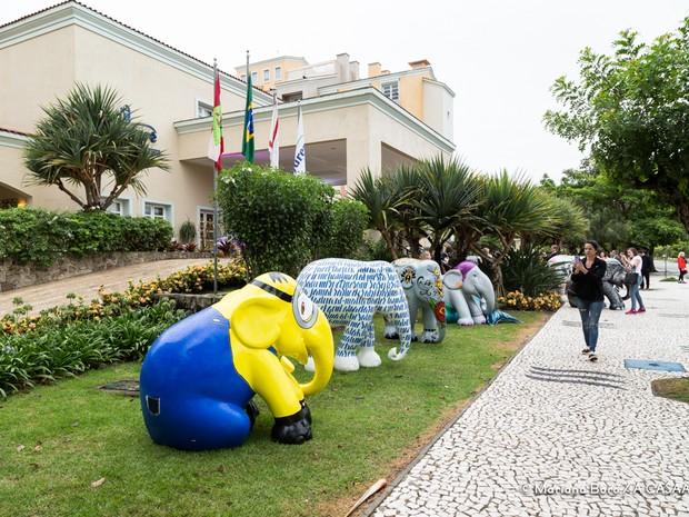 Obras da Elephante Parade em Jurerê Internacional (Foto: Vocali/Divulgação)