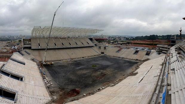Obras Arena itaquerão corinthians copa 2014 (Foto: Arena)