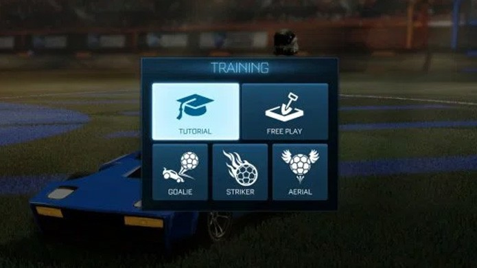Modo Training de Rocket League permite que você treine técnicas essenciais do jogo (Foto: Reprodução/Gotta Be Mobile)