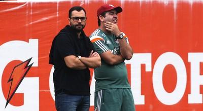 Mário Bittencourt e Enderson Moreira treino do Fluminense (Foto: Nelson Perez / Fluminense FC)