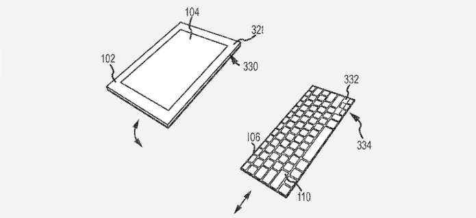 Assim como modelos atuais, nova geração da Smart Cover vai se comunicar sem fios com o iPad (Foto: Reprodução/US Patent & Trademark Office)