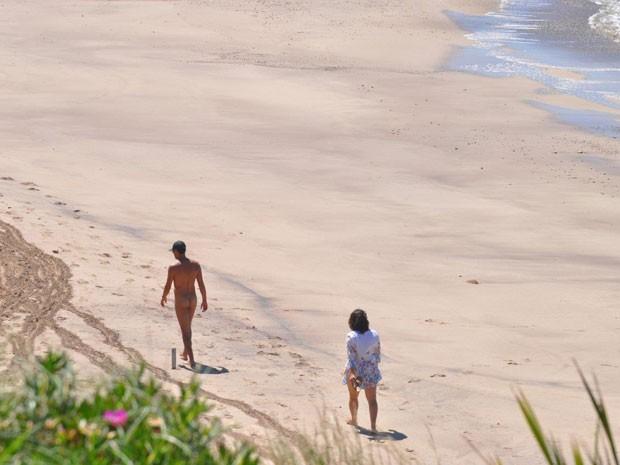 Playa Escondida, única praia nudista da Argentina (Foto: Carina Moreschi/Arquivo pessoal)