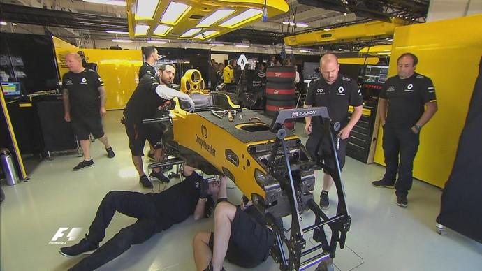Renault identifica rachadura em chassi e Jolyon Palmer não participa de treino classificatório no México (Foto: Divulgação)
