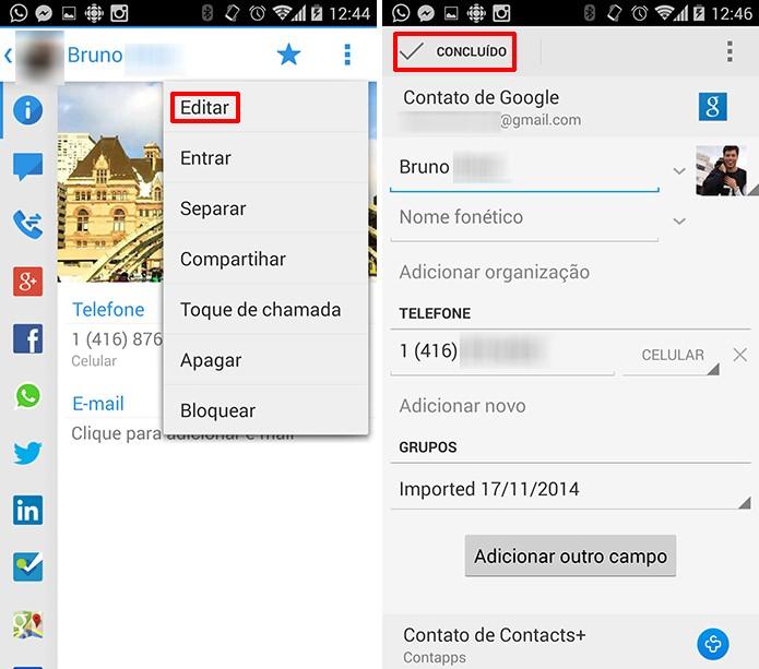 Contacts+ pode editar contatos da agenda do Android em poucos passos (Foto: Reprodução/Elson de Souza)