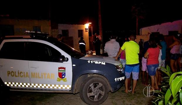 em São Em um dos crimes, em Gonçalo do Amarante, vítima foi assassinada na frente da residência onde morava (Foto: Reprodução/Inter TV Cabugi)
