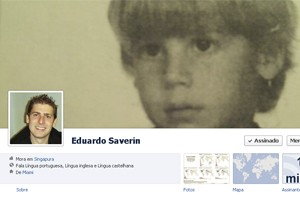 Perfil de Eduardo Saverin no Facebook (Foto: Reprodução)